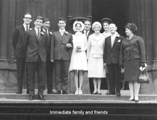 Immediate family and friends