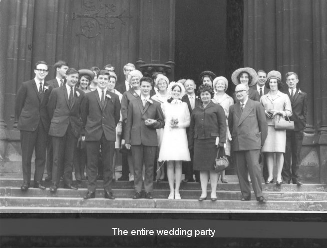 Entire wedding party