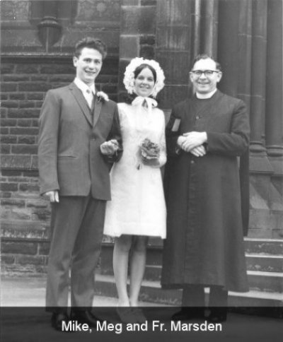 Mike, Meg and Fr. Marsden